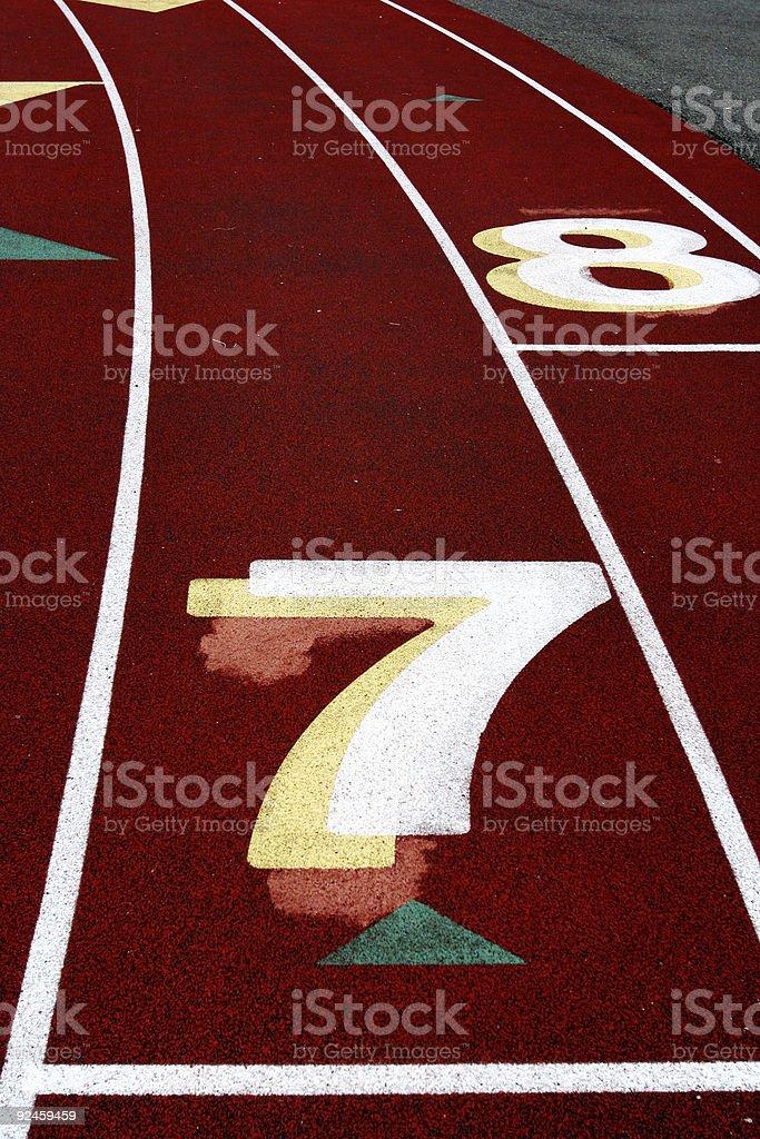 Track Lane #7 royalty-free stock photo