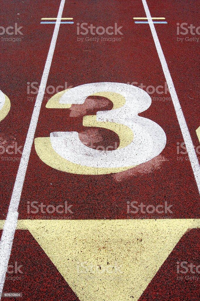 Track Lane #3 royalty-free stock photo