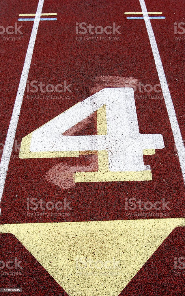 Track Lane #4 royalty-free stock photo