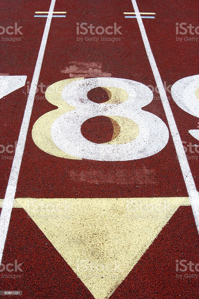 Track Lane #8 royalty-free stock photo