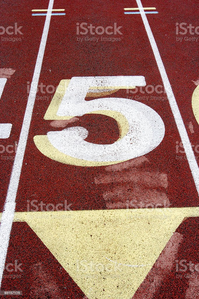 Track Lane #5 royalty-free stock photo
