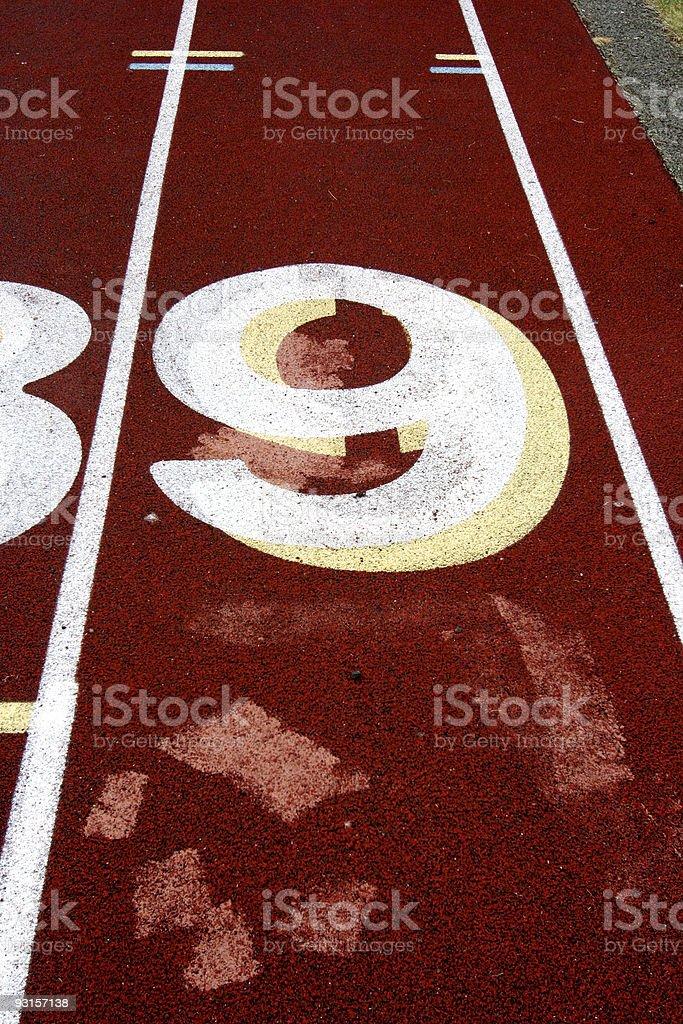 Track Lane #9 royalty-free stock photo