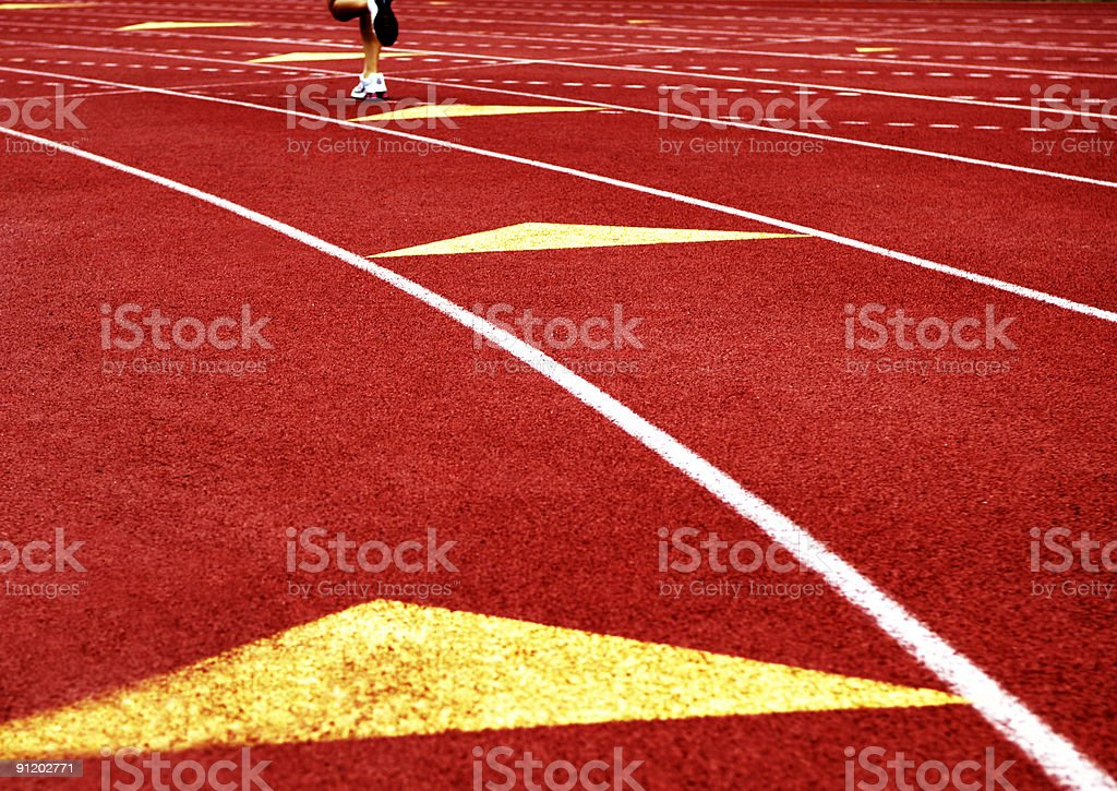 Track Lanes at Track and Field Running Event royalty-free stock photo