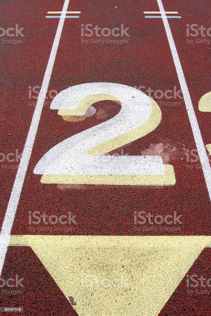 Track Lanes #2 royalty-free stock photo