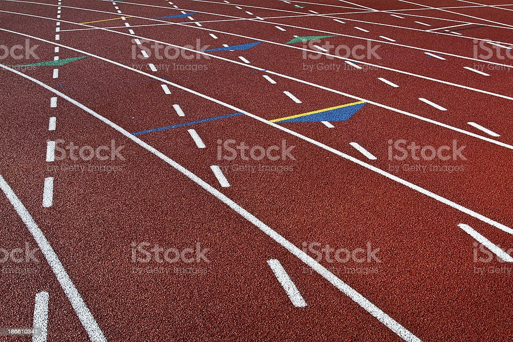 Track Lanes Turn royalty-free stock photo