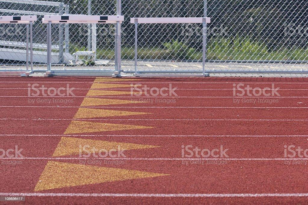 Track Left royalty-free stock photo