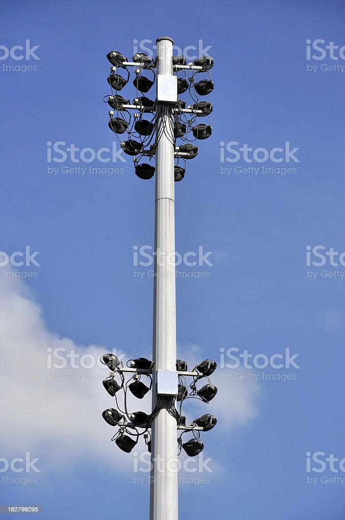 Track Light Column at Event / Sports Venue stock photo