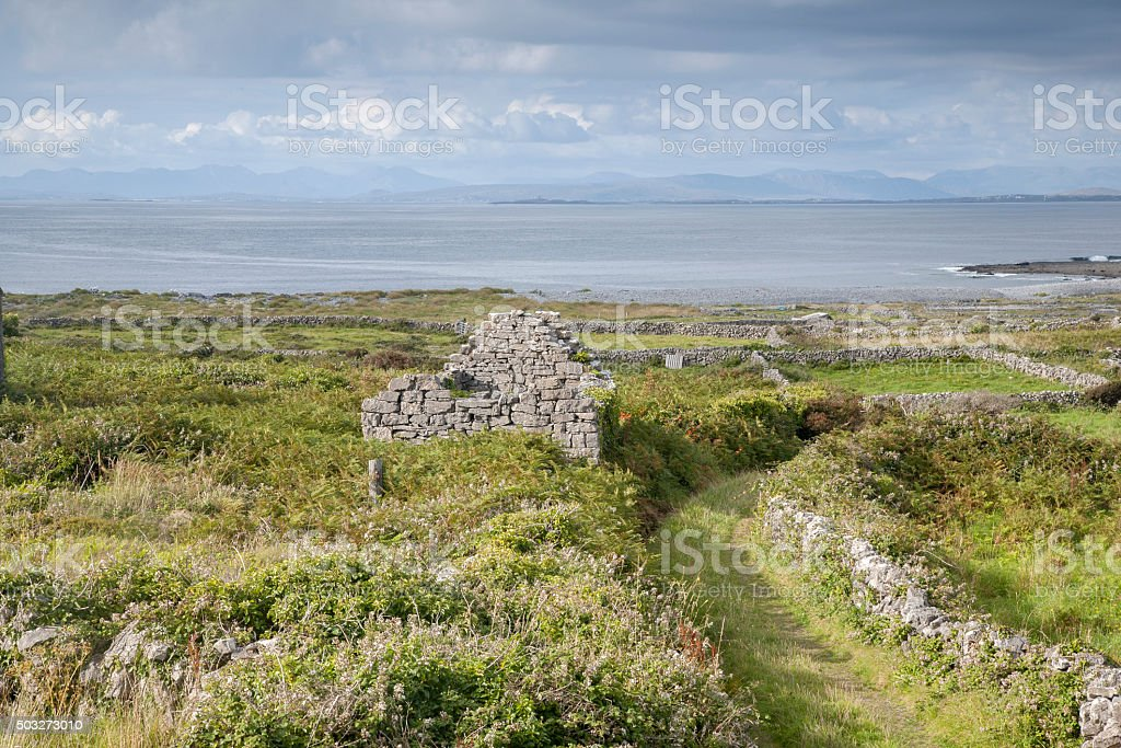 Track on Inishmore, Aran Islands stock photo