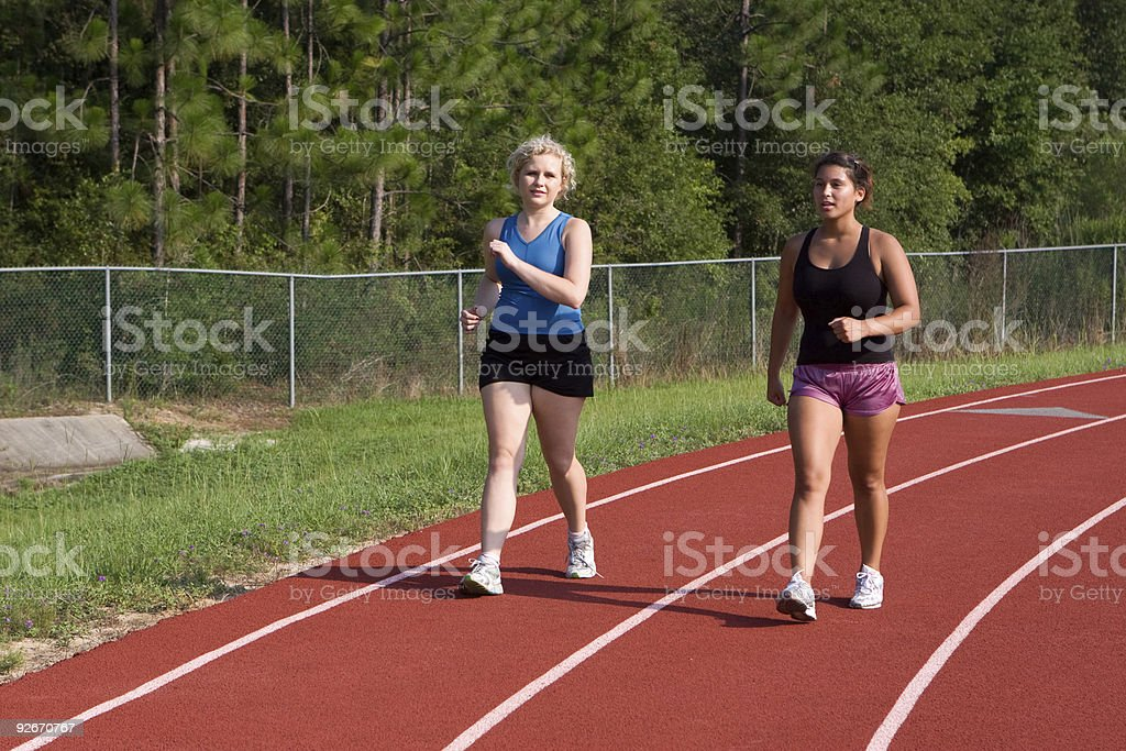 Track Power Walking royalty-free stock photo