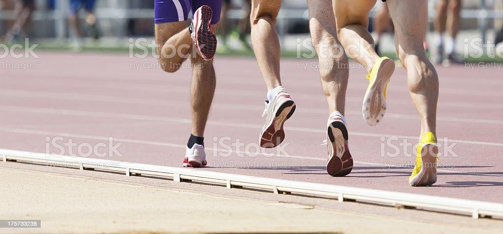 Track runner royalty-free stock photo