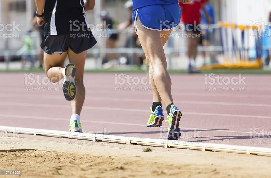 Track runner royalty-free stock photo
