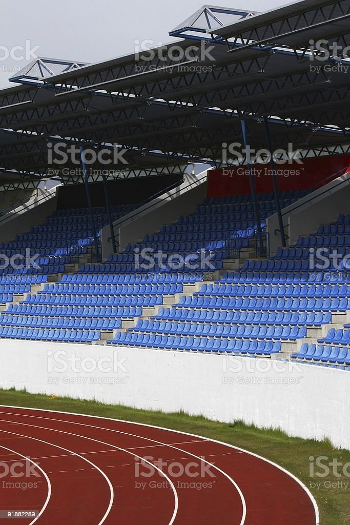 track seats and roof royalty-free stock photo