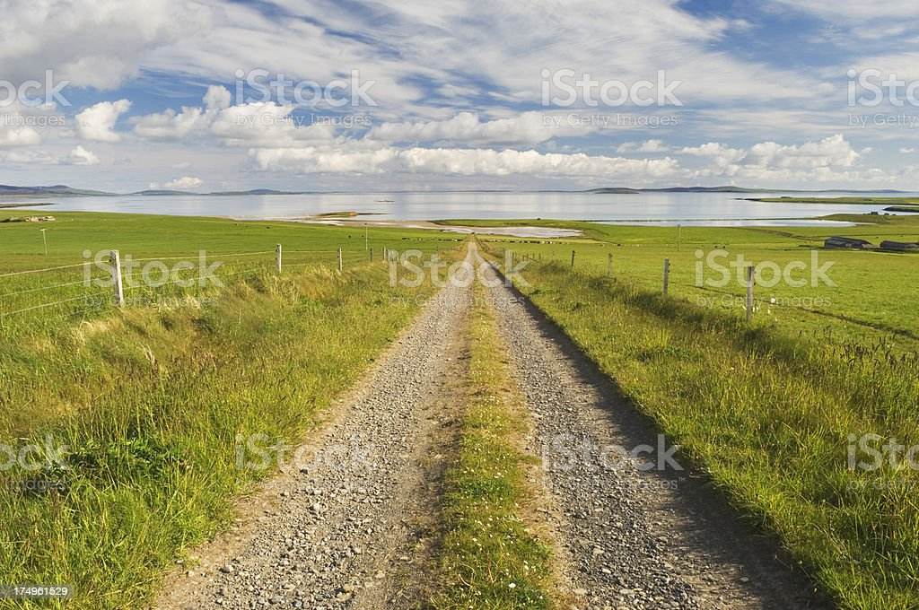 Track to the sea royalty-free stock photo