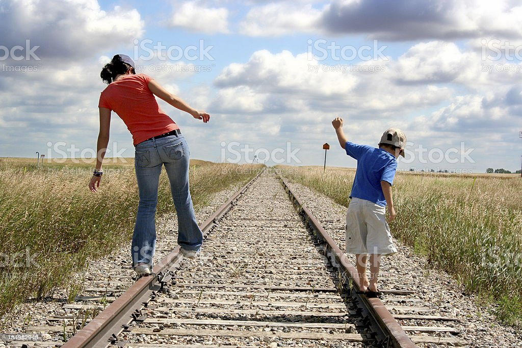 Track walking royalty-free stock photo