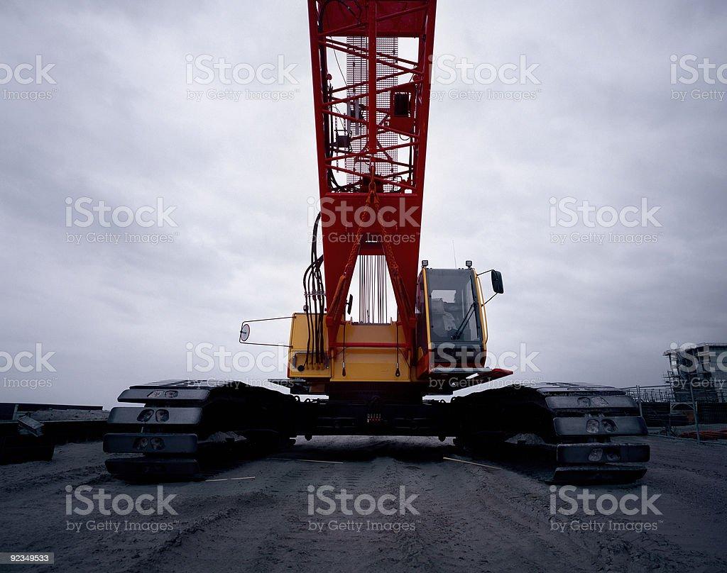 Tracked Crane stock photo
