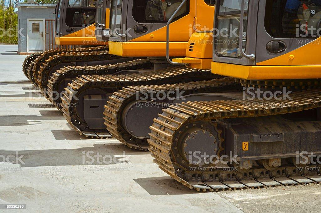 Tracked Excavators stock photo