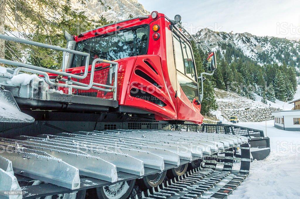 Tracked snow machine stock photo