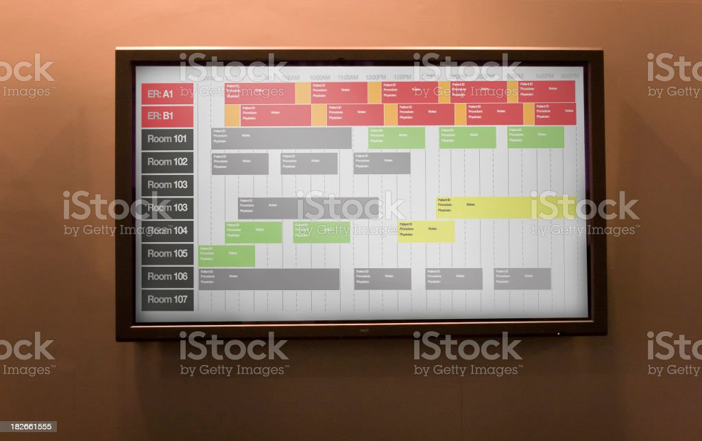 ER Tracker Board royalty-free stock photo