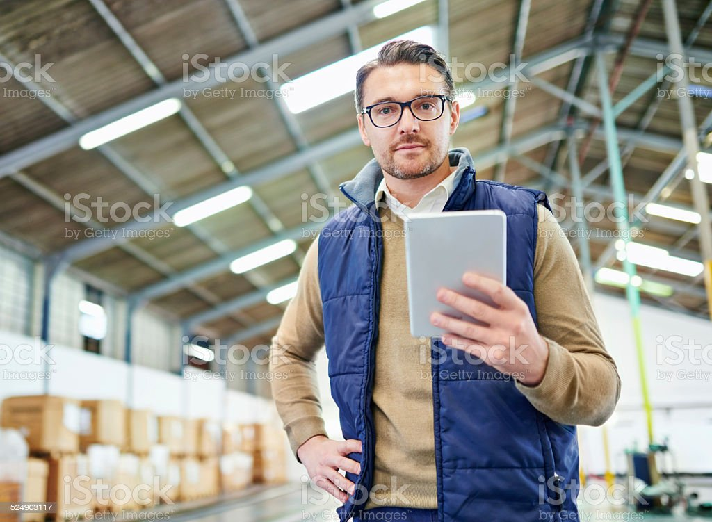 Tracking and tracing your order stock photo