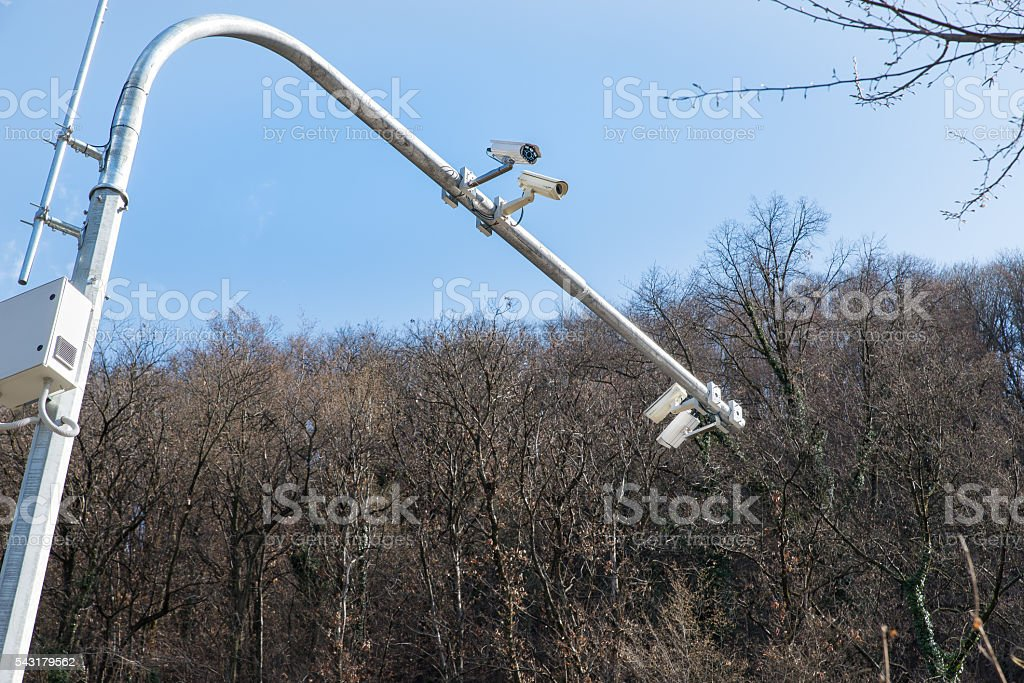 Tracking cameras traffic offences stock photo