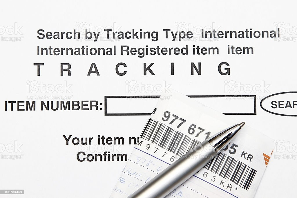 Tracking number stock photo
