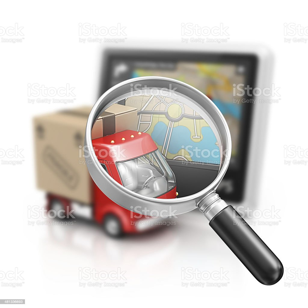 tracking package stock photo