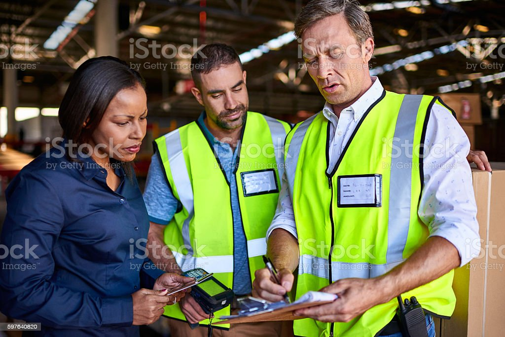 Tracking through barcode and manifest stock photo
