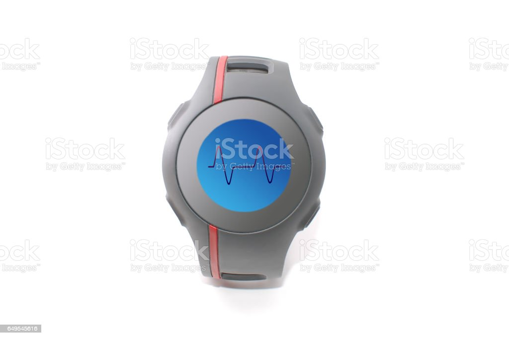 GPS tracking watch (pulse rate) stock photo
