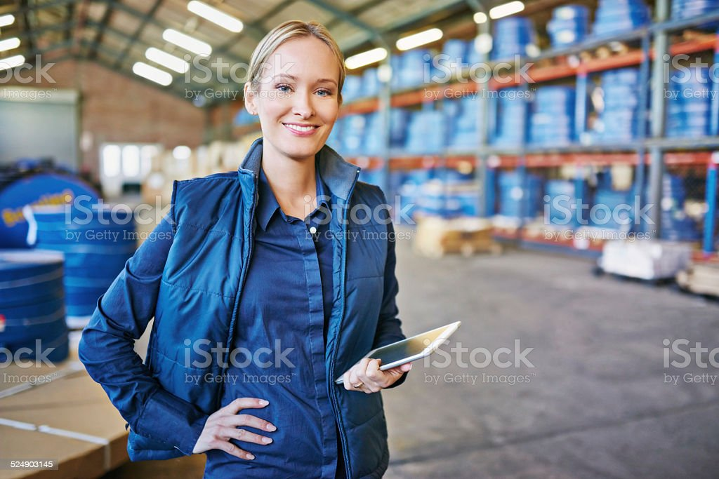 Tracking your order to its destination stock photo