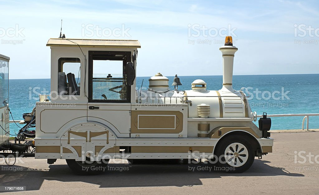 Trackless train royalty-free stock photo