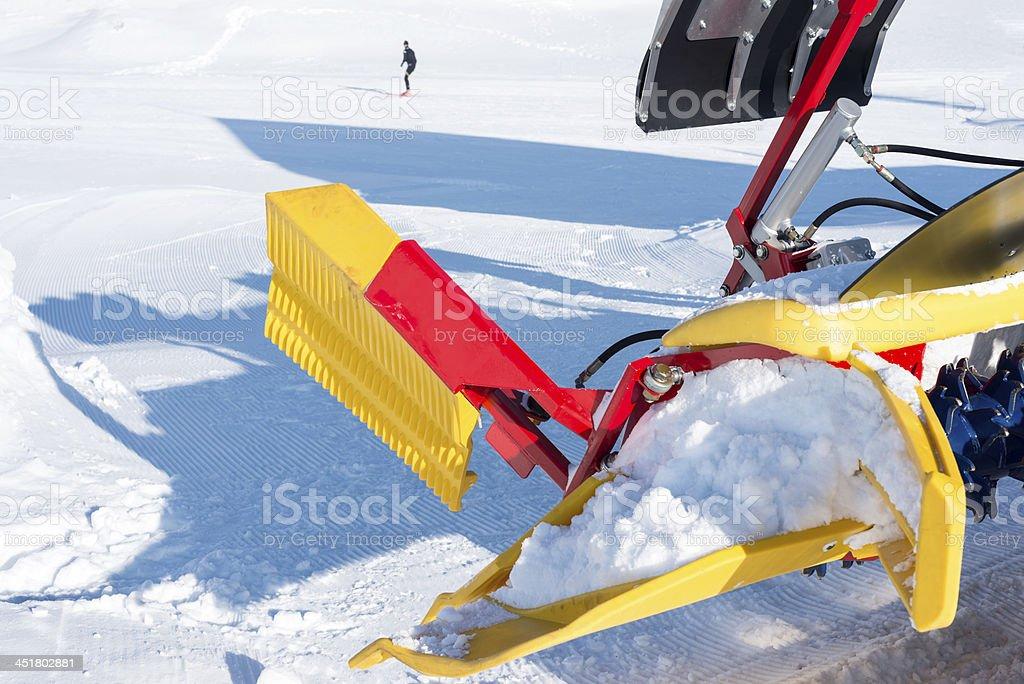 Trackmaster in Slovenian Alps Cross-Country Ski Resort stock photo