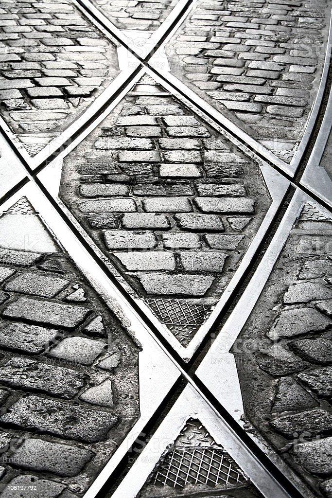 Tracks and tiles stock photo