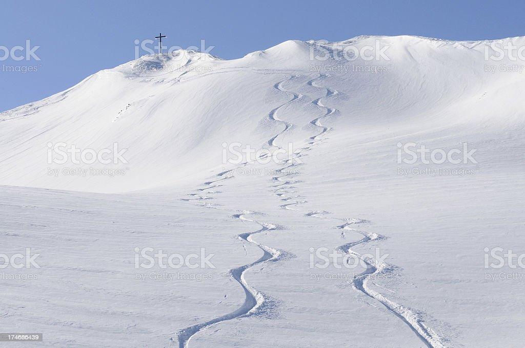 Tracks from Summit royalty-free stock photo