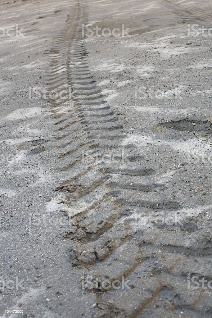 Tracks in Mud royalty-free stock photo