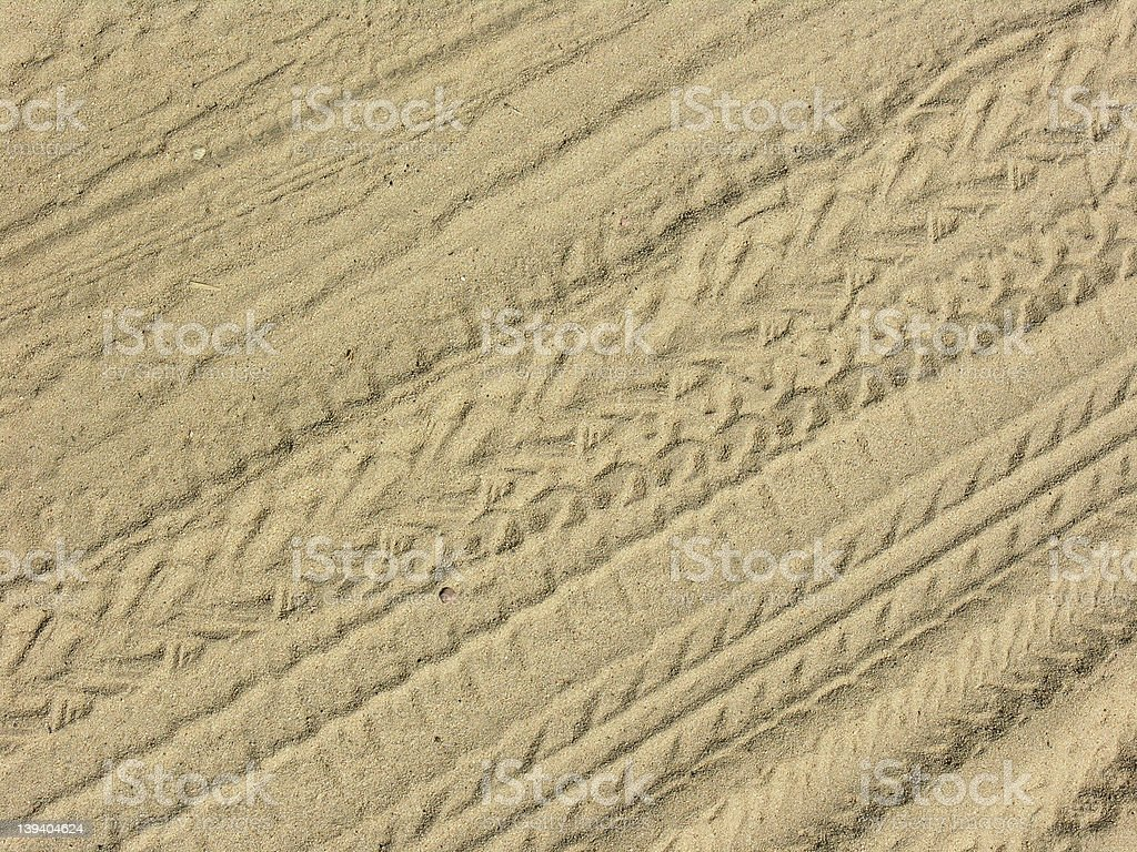 Tracks in sand royalty-free stock photo