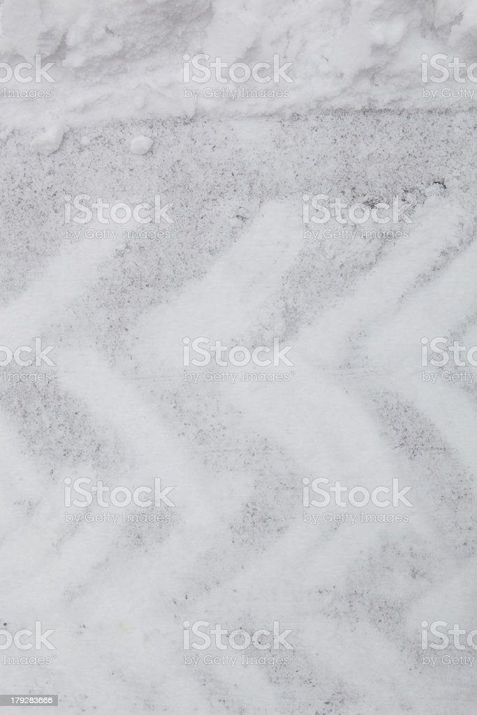 tracks in snow royalty-free stock photo
