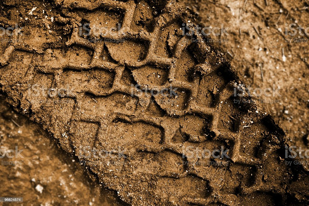 Tracks in the mud royalty-free stock photo