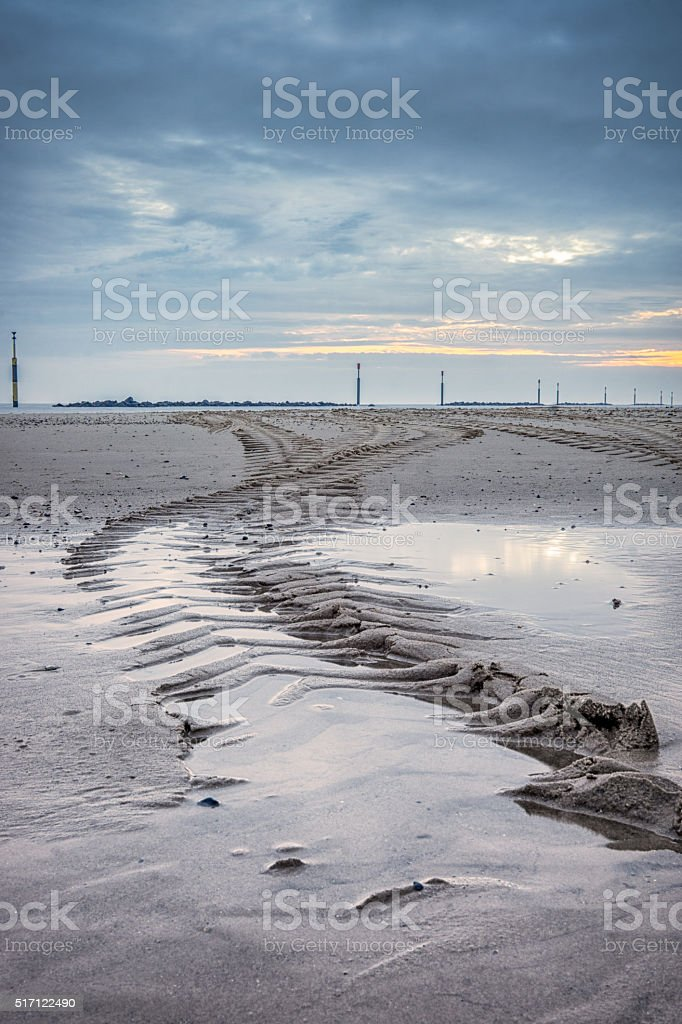 Tracks in the Sand stock photo