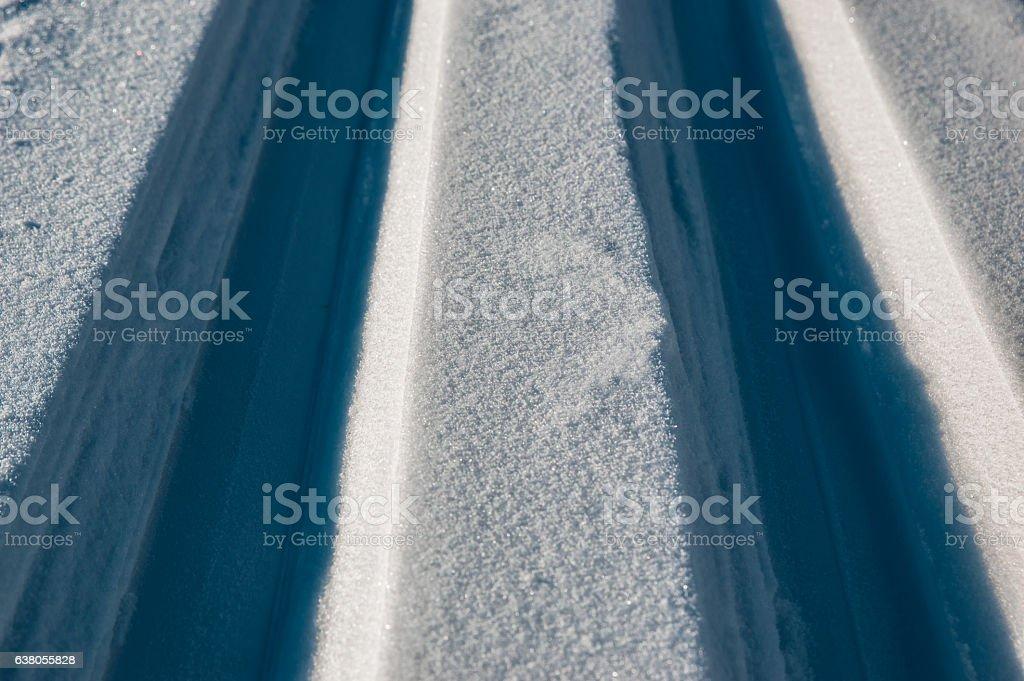 Tracks of skis stock photo