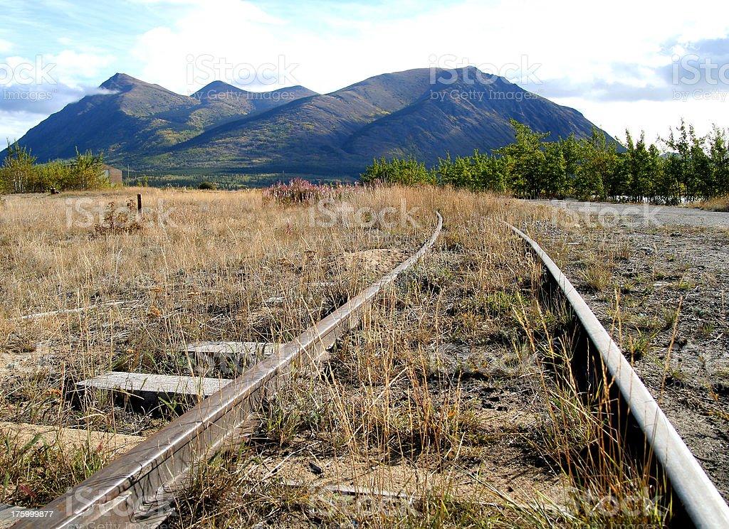 Tracks to nowhere royalty-free stock photo