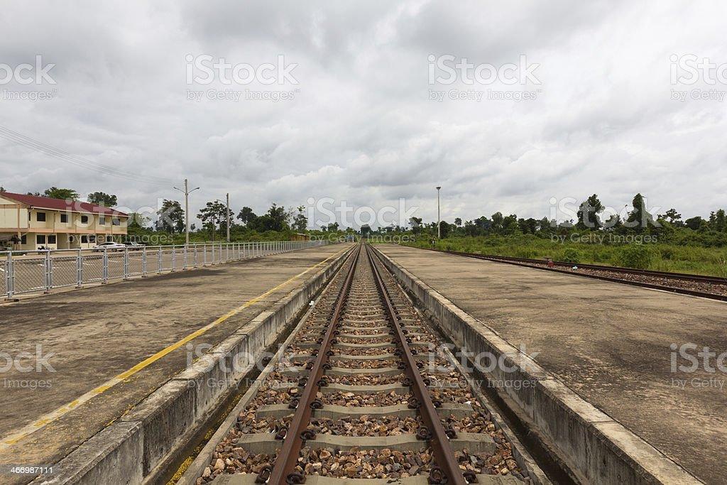 Tracks to Vientiane royalty-free stock photo