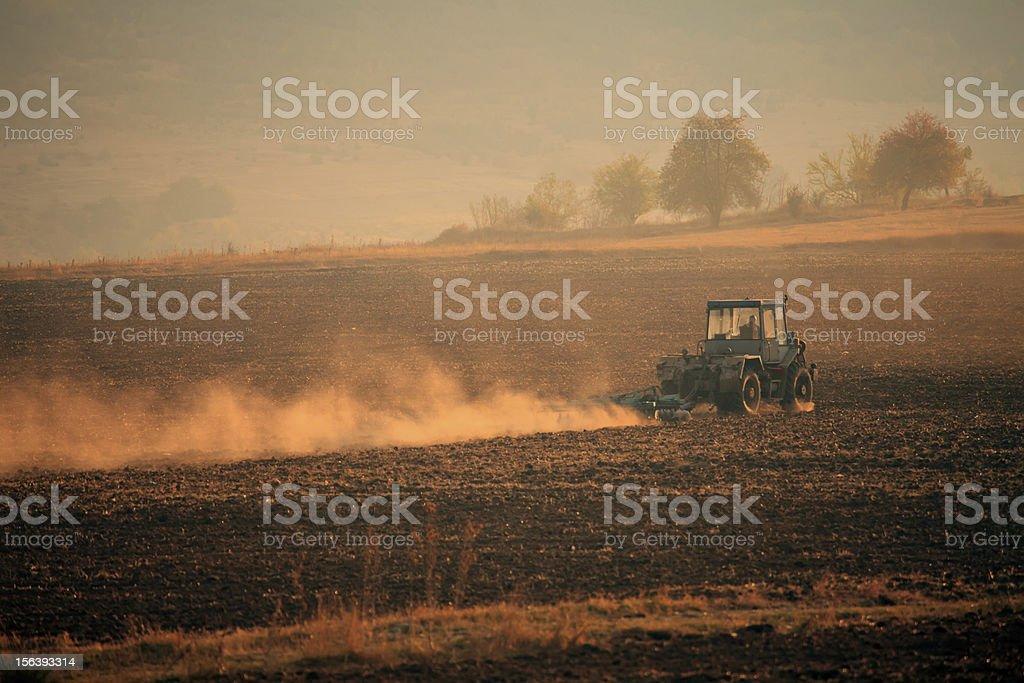tracktor landscape royalty-free stock photo