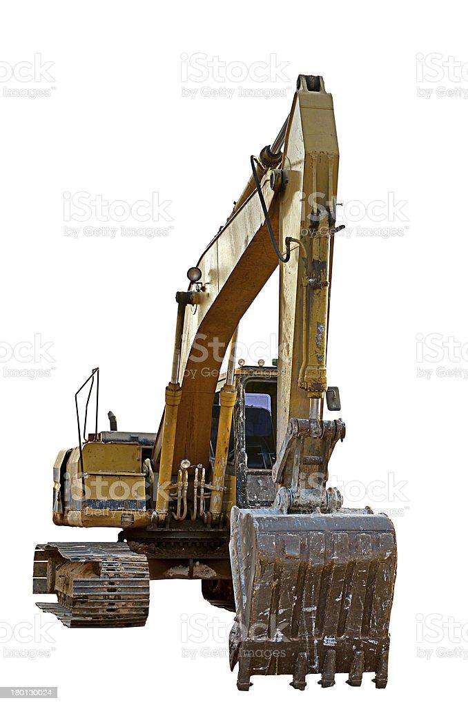 Track-type loader excavator machine stock photo