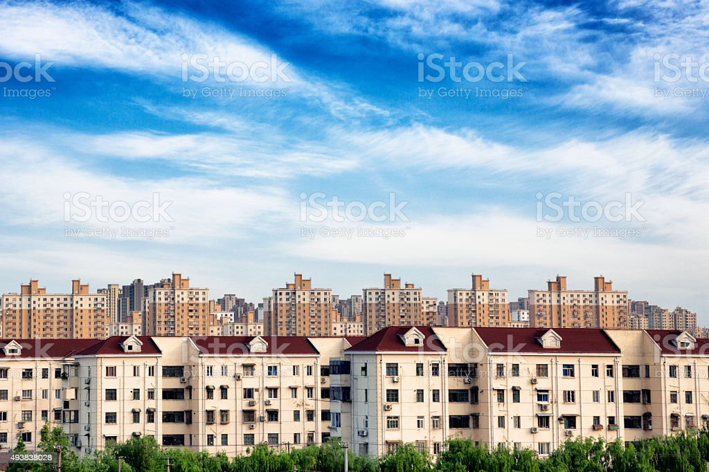 Tract Apartments in Shanghai, China stock photo
