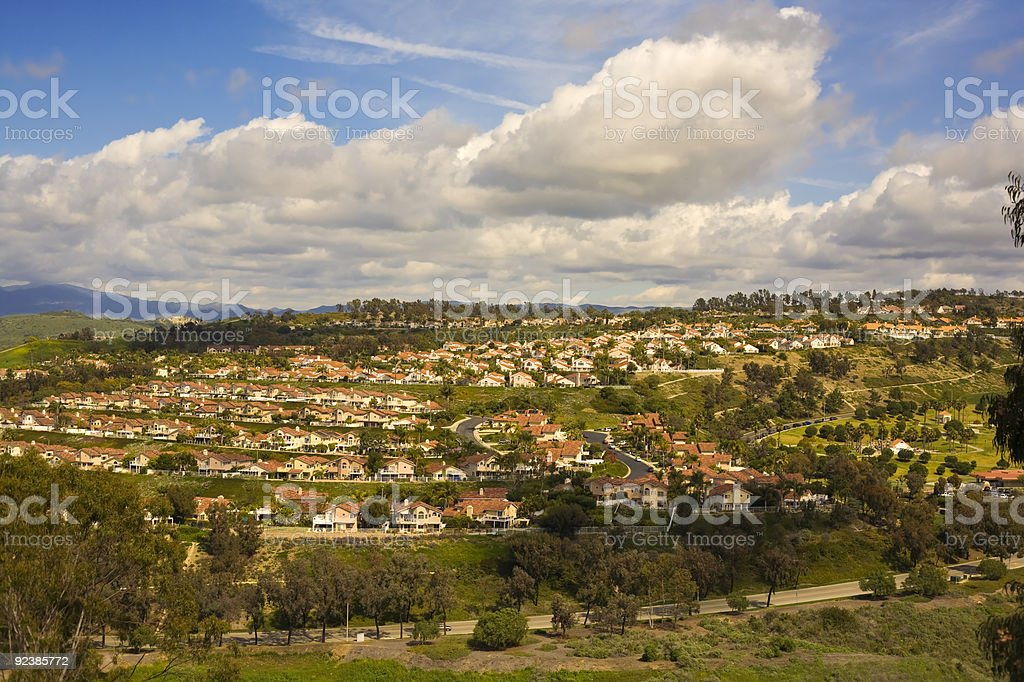 Tract Homes in San Clemente California stock photo