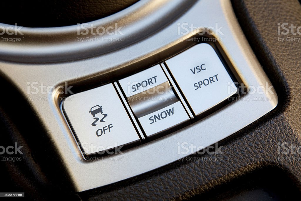 Traction control button stock photo