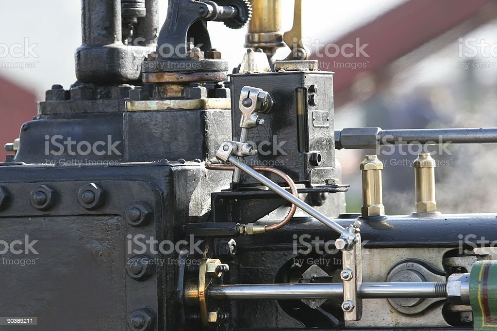 Traction engine details royalty-free stock photo