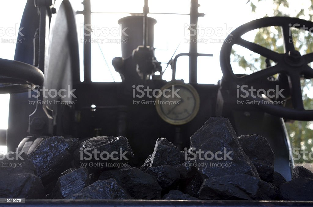 traction engine stock photo