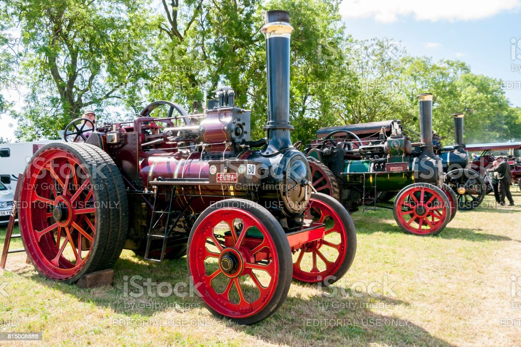 Traction Engines - Prestwood, UK stock photo
