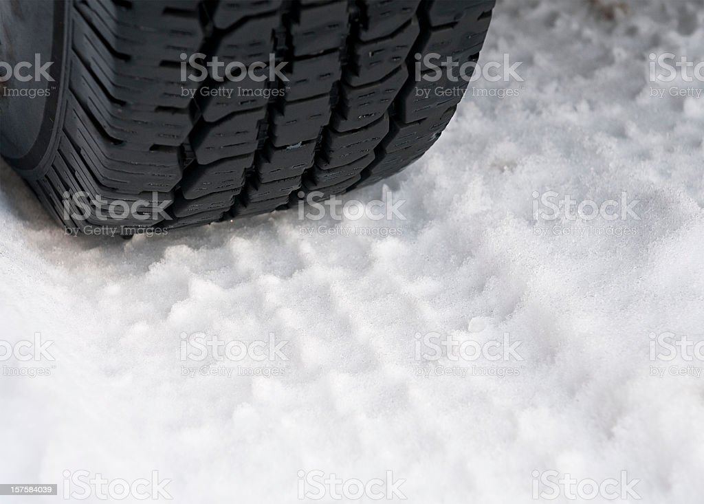 Traction in Snow stock photo
